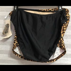 BEACH BAY Swim - 2pc woman leopard and black swimming set
